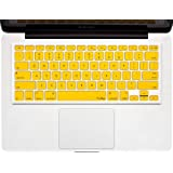 """Kuzy - YELLOW Keyboard Cover Silicone Skin for MacBook Pro 13"""" 15"""" 17"""" (with or w/out Retina Display) iMac and MacBook Air 13"""" - Yellow"""