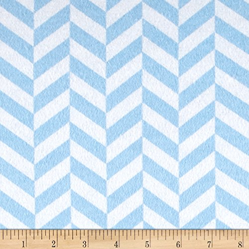 Flannel Up and Down Blue Fabric By The Yard (Flannel Fabric For Quilting compare prices)