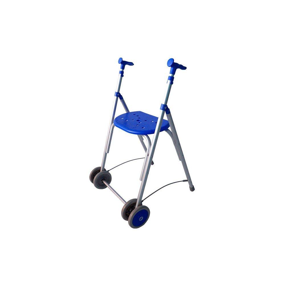 Forta fabricaciones - Andador de aluminio con asiento de FORTA Kamaleón - Azul, Sin ruedas traseras, Sin cesta: Amazon.es: Salud y cuidado personal