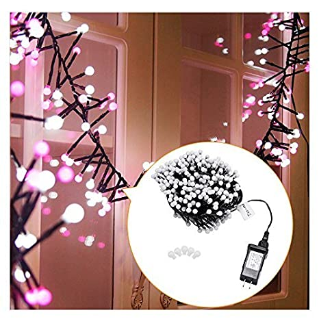 auxmart led string lights 400 led 26 ft christmas light dual color fairy lights 8 modes