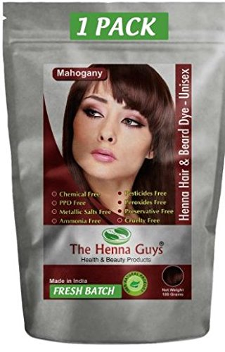 Amazon Com Mahogany Henna Hair Beard Dye Color 1 Pack The