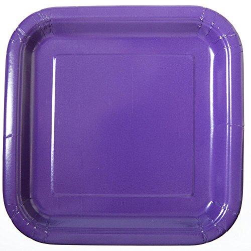 - Square Dark Purple Paper Plates, 14ct