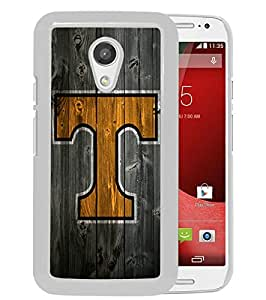 Southeastern Conference SEC Football Tennessee Volunteers 06 White Newest Custom Design Motorola Moto G 2nd Generation Phone Case