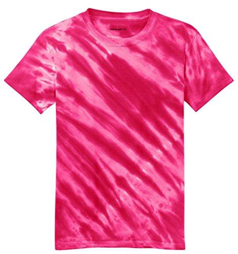Koloa Tiger Stripe Tie-Dye T-Shirt-Pink-M