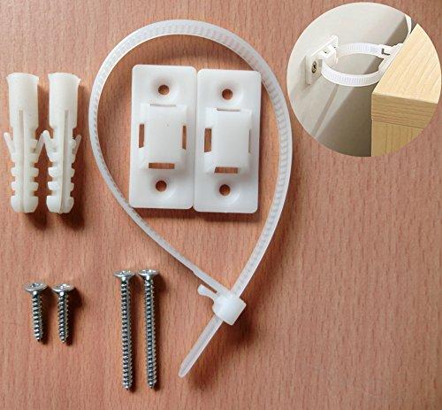 Anti Tip Furniture Kit & Drawer Chest Safety Lock Straps (2 Pack) -For Chest Of Drawers,Dresser,Wardrobe,Bathroom Spacesaver,etc
