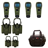 Set of 4 Thermacell Mosquito Repellent Outdoor and Camping Repeller Devices & 4 MR-HJ Repeller Holsters, Olive, with Focus Carry Case