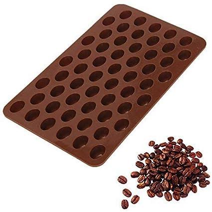 Romote 55 Cavidad mini granos de café chocolate caramelo de azúcar del molde del molde de pastel Decoración: Amazon.es: Hogar