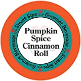 Smart Sips Pumpkin Spice Cinnamon Roll Coffee Single Serve Cups Compatible with All Keurig K-cup Brewers, 24-Count