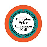 Smart Sips, Pumpkin Spice Cinnamon Roll Coffee, 24 Count, Single Serve Cups Compatible With All Keurig K-cup Brewers