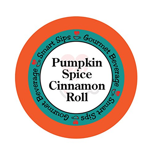 Smart Sips Pumpkin Spice Cinnamon Roll Coffee Single Serve Cups Compatible with All Keurig K-cup Brewers, 24-Count (Velvet Pumpkins)