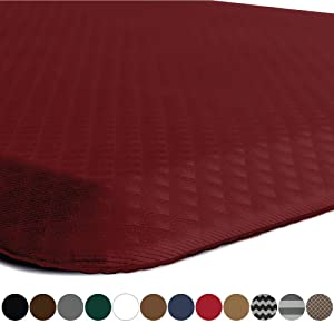 """KANGAROO BRANDS Original 3/4"""" Anti-Fatigue Comfort Standing Mat Kitchen Rug, Phthalate Free, Non-Toxic, Waterproof, Ergonomically Engineered Floor Pad, Rugs for Office Stand Up Desk, 32x20 (Red)"""