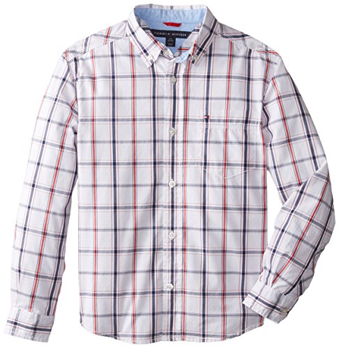 Tommy Hilfiger Big Boys' Samuel Shirt, Classic White, - Shirt Hilfiger Oxford Tommy