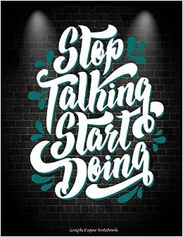 amazon stop talking start doing graph paper notebook success