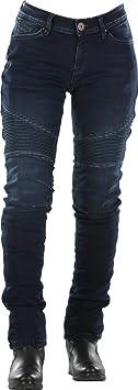 Overlap Imola damskie dżinsy motocyklowe ciemnoniebieskie 34: Auto