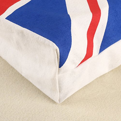 OULII Flag Canvas Tote Bag Zipper Tasche Umwelt einzelne Schulter Baumwolle Tasche Z8V5b