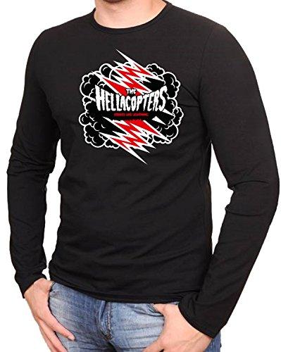 The Hellacopters Music Rock Metal Rules Schwarze Langarmshirt -595-LA