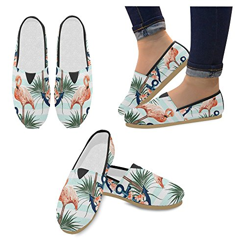 Loafers Fashion Sneakers Flats Casual Womens Anchor Shoes Slip On Classic InterestPrint Jane Mary Canvas 0Rw5nq11