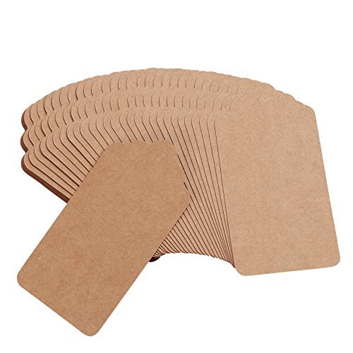 """Officepal 300pcs 4.72""""x2.36"""" String Blank Kraft Paper Tags and Ropes to Label Your Items, Gift, Presents by Officepal"""