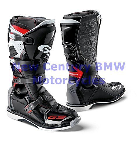 BMW Genuine Motorcycle Unisex GS Pro Riding Boot Black/White/Red US 11.5 Euro 45