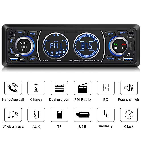 Radio Stereo Bluetooth - Car Stereo with Bluetooth Single Din Car Stereo Car Radio Car Audio Player Support Phone Fast Charge USB SD Card AUX in with Wireless Remote Control