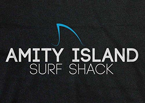 Mandíbulas: Amity isla surf Shack Retro bolsa de mensajero negro