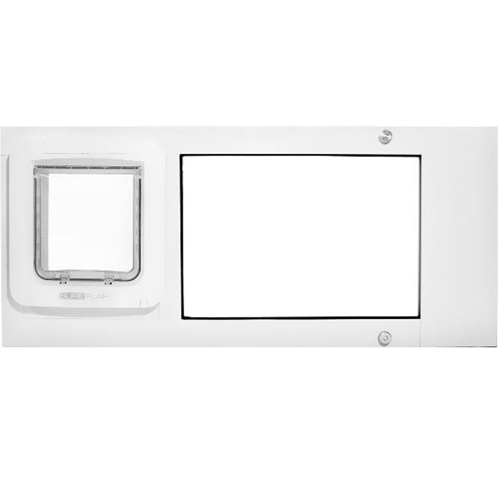 Thermo Sash 2e SureFlap Microchip Pet Door Color: White, Size: 37'' x 40''