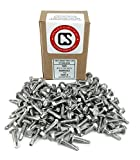 "Stainless #10 X 3/4"" Tek Screw (100 pcs)) Hex Washer Head Self Drilling Sheet Metal Tek Screws With Drill Point, 410 Stainless Steel, Self Driller, 100 pieces"