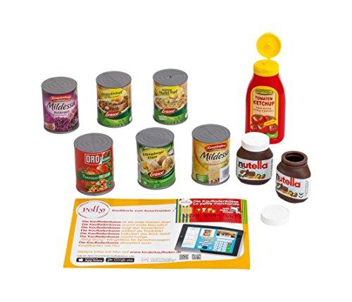 Polly 9930 - Dosen-Set für den Kaufmannsladen und die Spielküche, Vorschul- Rollenspielzeug