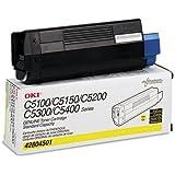 Okidata 42804501 Toner Cartridge, Laser, Type C6, 3000 Page Yield, Yellow