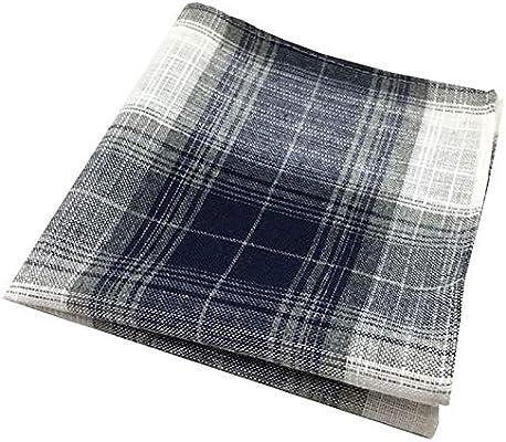 WGE Pañuelos para Hombre Pañuelo de Bolsillo for Hombres, pañuelo de algodón y Lino, Adecuado for la decoración del Traje y for Limpiar el Sudor (Color : Style1): Amazon.es: Hogar