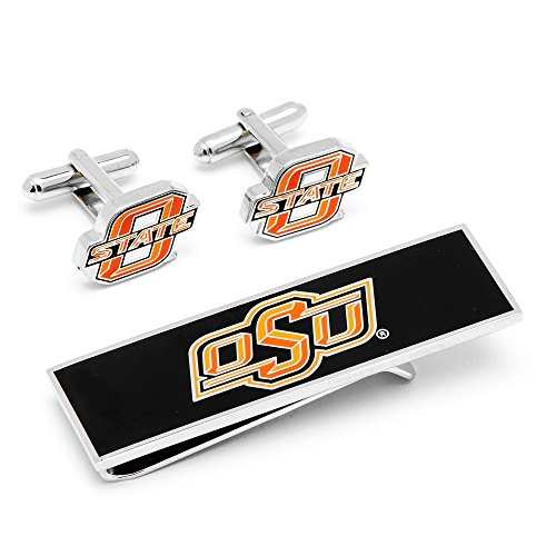 Cufflinks Metal Mens Cuff Links Oklahoma State Cowboys And Money Clip Gift Set Ncaa Orange by Cufflinks