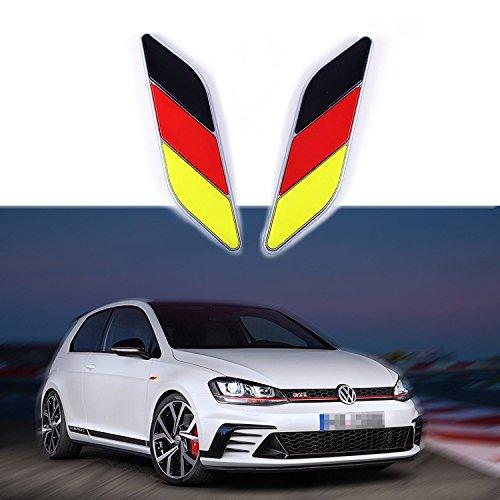 2 pegatinas de cromo con la bandera de la Nación para guardabarros de puerta lateral de coche, Flag of Germany