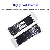 Cable Ties 12 Inch, Zip Ties 12 Inch with 50 Pounds Tensile Strength, 100 Pieces, Black