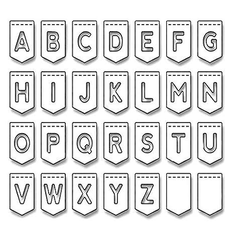 DIY Plantilla para Troqueles de Corte de Metal de Letra Inglesa de Alfabeto para Album de Fotos Tarjetas de Papel Decorativas y Artesanía: Amazon.es: Hogar