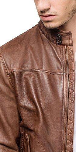 0ab530846 Massimo Dutti (Zara Group) Men Brown Genuine Leather Bomber Jacket ...