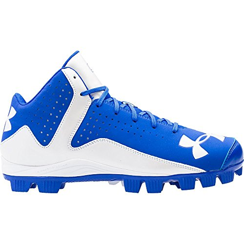 Under Armour Men's Leadoff Mid RM Baseball Cleats Team Royal/White Size 10.5 M US