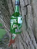 Live, Love, Bark Wind Chime - Outdoor Decor - Bottle Wind Chime