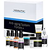 Anti-aging Kit Forties - YEOUTH 8 set for 40's +Vit C Facial Cleanser,Balancing Facial Toner,Vit C & E Serum,Anti aging Super Serum,Retinol 2.5% Serum,Eye Gel,Day Night Snail Cream,Neck Firming Cream