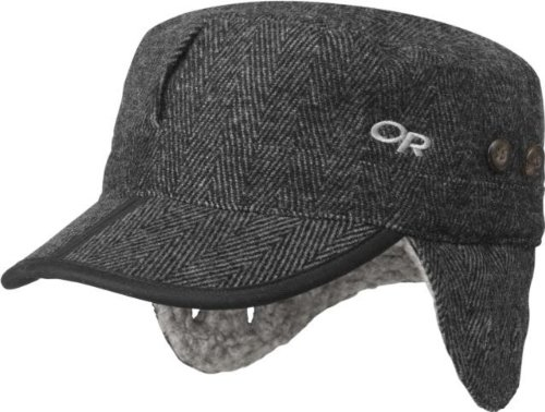 Outdoor Research Yukon Cap, Charcoal Herringbone, (Outdoor Research Winter Hat)