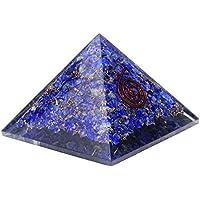 Lapis Lazuli Orgonite Pyramid Chakra Balancing Reiki Healing & Aura Cleansing Crystal (Size - 3-3.5 Inch)