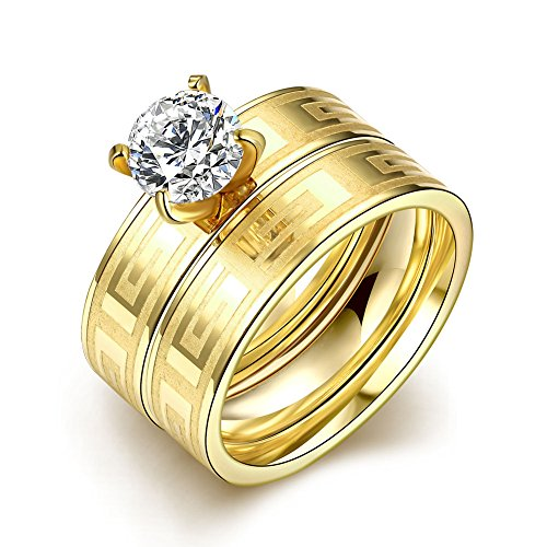 Retop Jewelry 18K Gold Plated Diamonds Womens Wedding Rings Engagement Rings For Girl LKN060 (7)