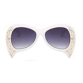 HYUHYU Mujeres De Gran Tamaño Gafas De Sol Negras Diseñador ...