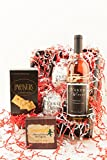 Happy Hour, Willamette Valley, Oregon Wine and Cheese Basket Gift Set Pinot Gris, 1 x 750 mL