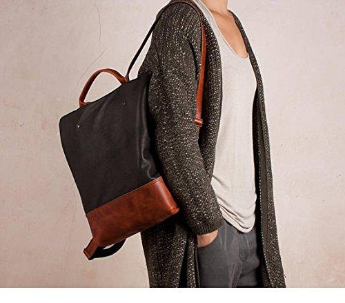 Sac à dos en cuir, sac à dos antivol, sac à dos noir et marron, sac ... 0fe9d85fc27