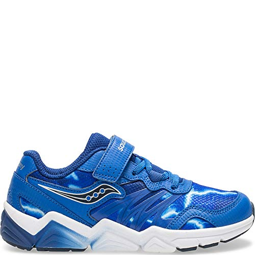Saucony Kids' Flash A/C Sneaker, blue, 11 M US Little Kid (Shoes Little Saucony Kid)