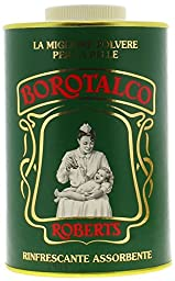 Robert\'s Borotalco Body Powder Family Size - Talcum, 1000 g/1kg 35 oz. by Manetti Roberts