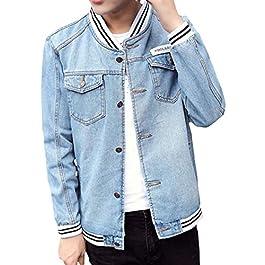 Men's  Washed Regular Fit   Denim Trucker Jacket Coat