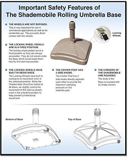 Amazon Com Shademobile Rolling Umbrella Stand And