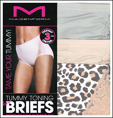 Maidenform Ladies Tummy Toning Briefs 3- - Cashmere Shell Shopping Results