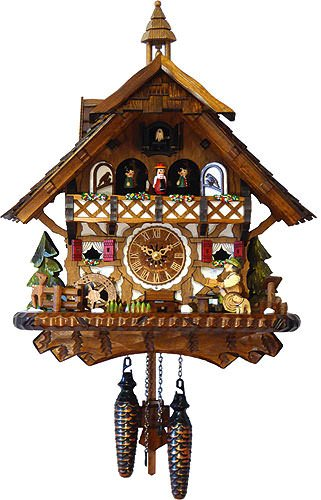 (Cuckoo Clock Quartz-Movement Chalet-Style 43cm Engstler )